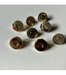 Cierre metálico oro, 14x14mm