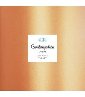 Cartulina perlada - Cobre