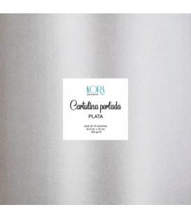 Cartulina perlada - Plata