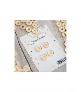 Pack de 4 botones dorados VELVET