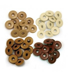 Eyelets anchos marrones. We R Memory Keepers