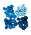 Eyelets anchos azules. We R Memory Keepers