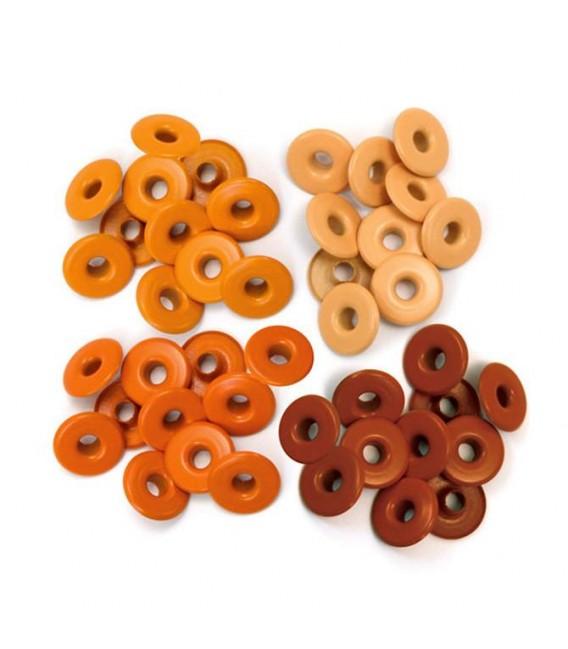 Eyelets anchos naranjas. We R Memory Keepers