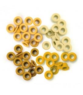Eyelets amarillos We R Memory Keepers