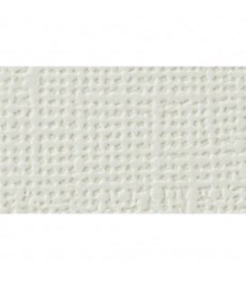 Cartulina textura lienzo, color blanco roto 30x30